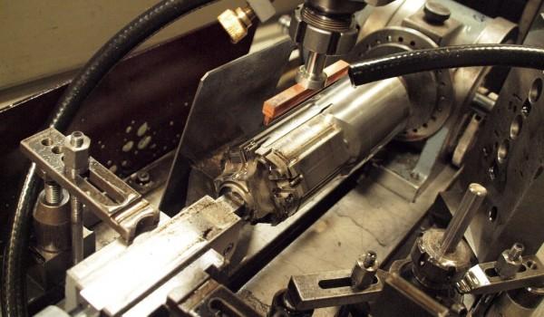 Erosion a plastic handle mould core
