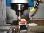 Electrode for 4 cavity injection mould