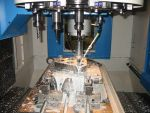 Injection mould plate in milling process