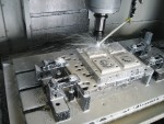 Rough milling program on injection mould plate